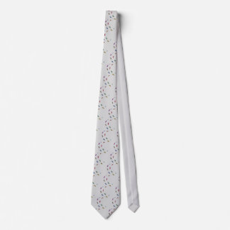 Human skeletal foot prints - muliSolidColor Neck Tie