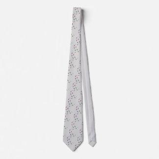 Human skeletal foot prints - muliSolidColor Neck Tie