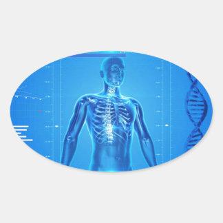 human-skeleton-163715 FANTASÍA ESQUELÉTICA HUMANA Pegatina Ovalada