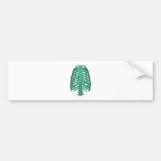 Human Skeleton Ribs Bumper Sticker