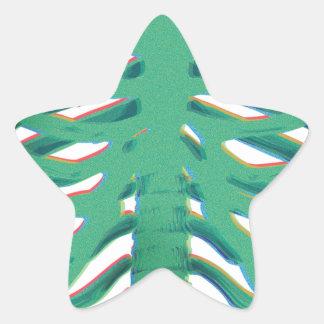 Human Skeleton Ribs Star Sticker