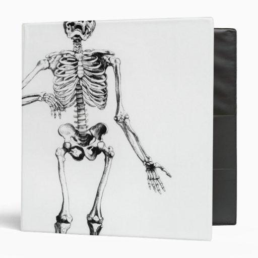 Human Skeleton Vinyl Binder