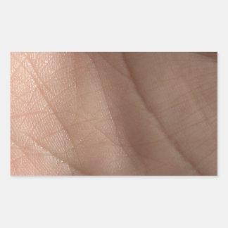 Human skin facsimile pattern rectangular sticker