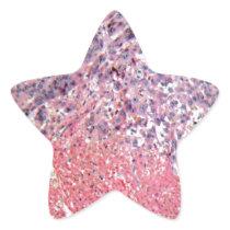 Human skin with skin cancer under a microscope. star sticker