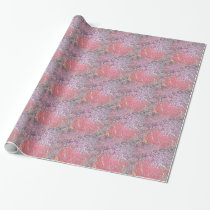 Human skin with skin cancer under a microscope. wrapping paper