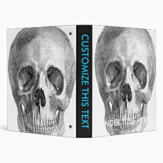 Human skull anatomy sketch drawing 3 ring binder