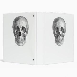 Human skull anatomy sketch drawing binder