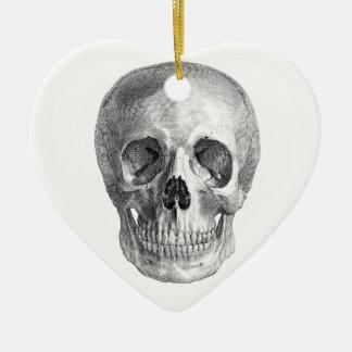 Human skull anatomy sketch drawing christmas ornaments