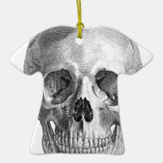 Human skull anatomy sketch drawing christmas tree ornament