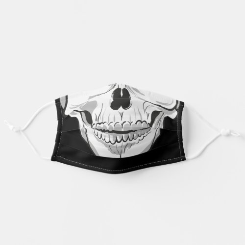Human skull Black and White drawing Cloth Face Mask