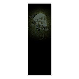 human skull bookmark mini business card