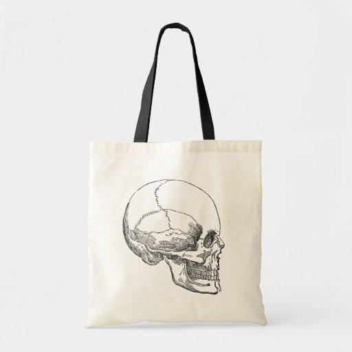 Human Skull Canvas Bags