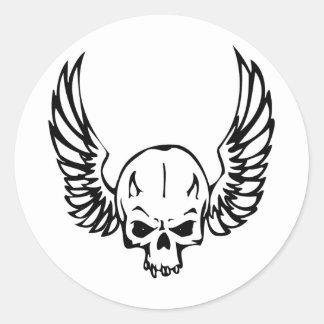 Human Skull Classic Round Sticker
