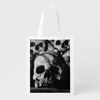 Human Skull Collection Reusable Grocery Bag