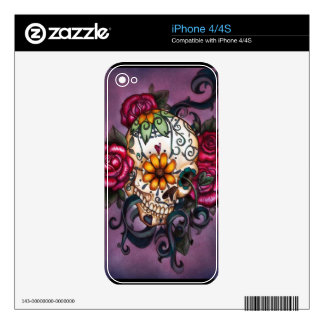 Human Skull Decal For iPhone 4