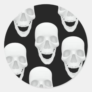 Human Skull Design Classic Round Sticker