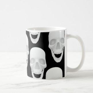 Human Skull Design Coffee Mug