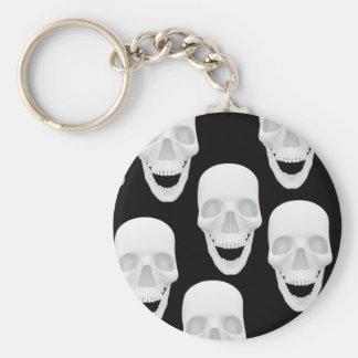 Human Skull Design Keychain