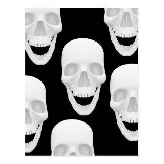 Human Skull Design Postcard