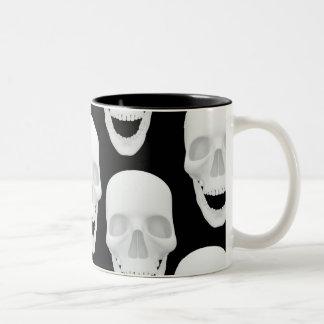 Human Skull Design Two-Tone Coffee Mug