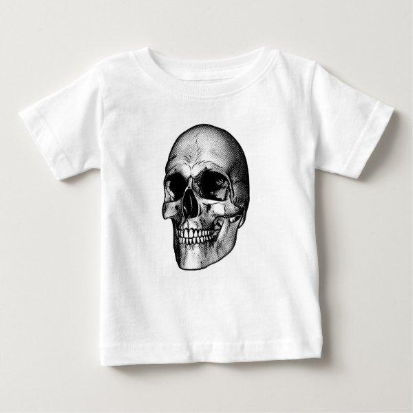 Human Skull Drawing Baby T-Shirt
