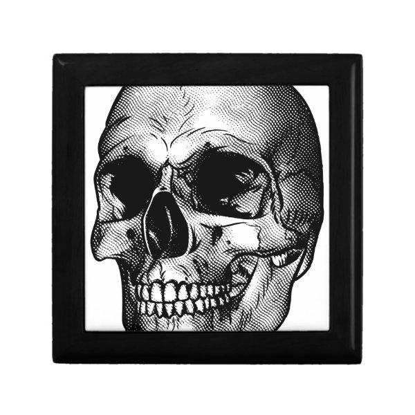 Human Skull Drawing Gift Box