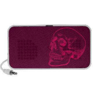 Human Skull Drawing in Fuchsia Mp3 Speaker