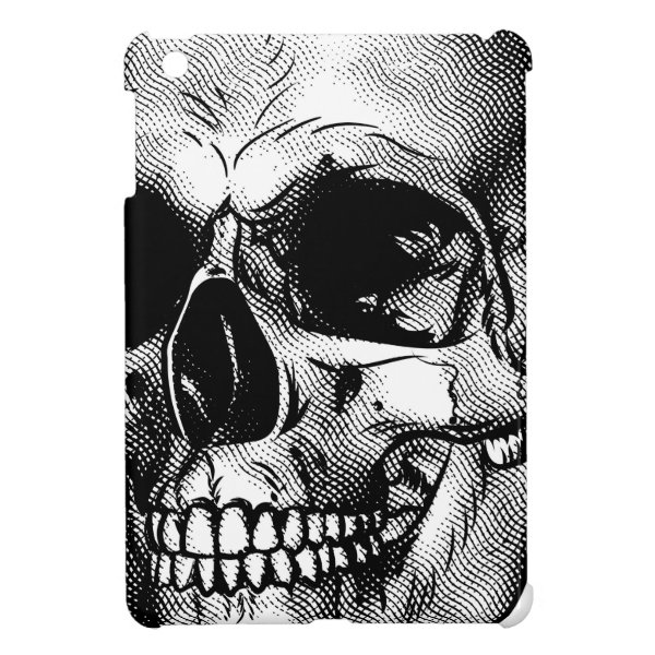 Human Skull Drawing iPad Mini Case