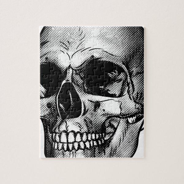 Human Skull Drawing Jigsaw Puzzle