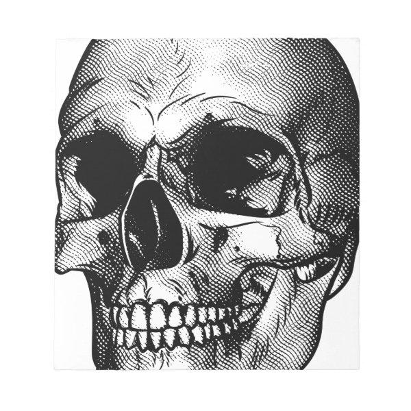 Human Skull Drawing Notepad