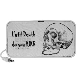 Human Skull Etching iPhone Speakers