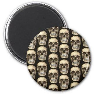 Human Skull Goth Refridgerator Magnet