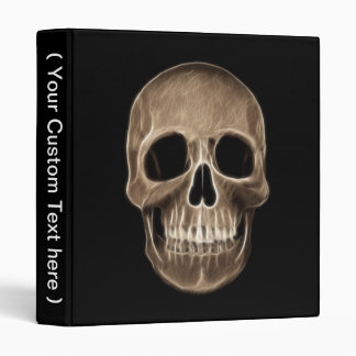 Human Skull Halloween X-Ray Skeleton Vinyl Binder