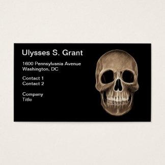 Human Skull Halloween X-Ray Skeleton Business Card