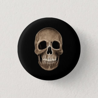 Human Skull Halloween X-Ray Skeleton Button