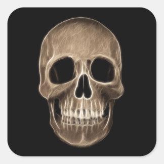 Human Skull Halloween X-Ray Skeleton Square Sticker