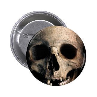 Human Skull Head Face Pinback Button