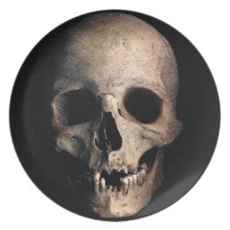 Human Skull Head Face Plate