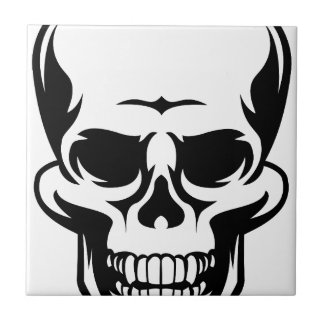 Human Skull Icon Tile