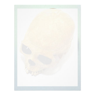 Human Skull Personalized Letterhead