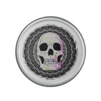 Human Skull Mandala Pattern Bluetooth Speaker