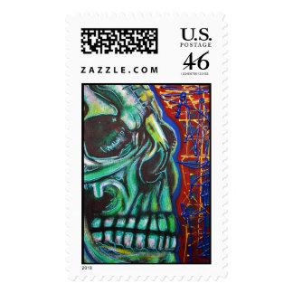 Human Skull Postage