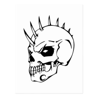 Human Skull Postcard