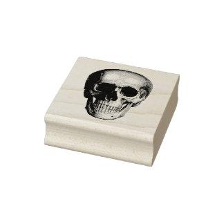 Human Skull Rubber Stamp