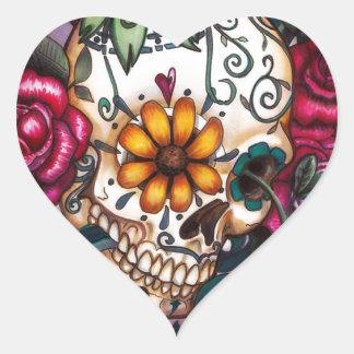 Human Skull Heart Sticker