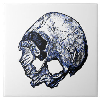 Human Skull Tile
