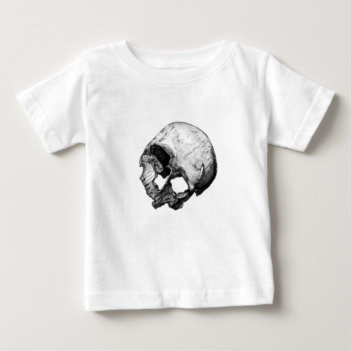 Human Skull Vintage Illustration Baby T-Shirt