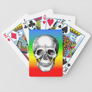Human Skull White Face Bicycle Playing Cards