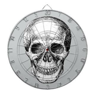 Human Skull White Face Dartboard With Darts