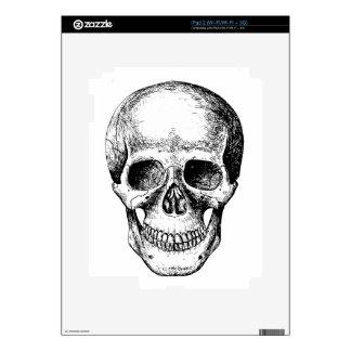 Human Skull White Face iPad 2 Decal